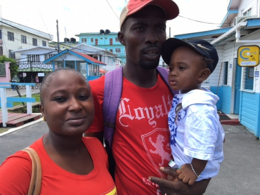 A responsible Guyanese Father in the Georgetown Public Hospital compound.
