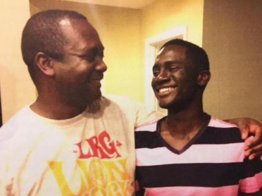 1.This Father migrated. He later got his Son over. The son is being congratulated after graduating from College.