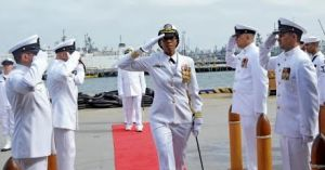 Change of command as Commander Janice Smith, takes charge of as the commanding officer of USS Oscar Austin.