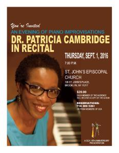 Dr. Violet Cambridge Piano Recital