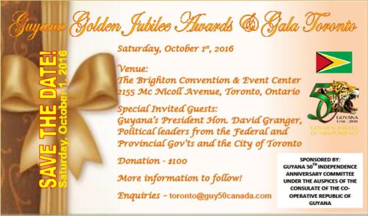 Guyana Golden Jubilee Awards & Gala Toronto