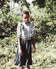 A young Janice Smith in rural Jamaica