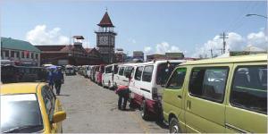 Mini-Bus Terminal at Stabroek Market.