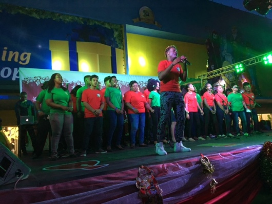 The COURTS Choir on stage