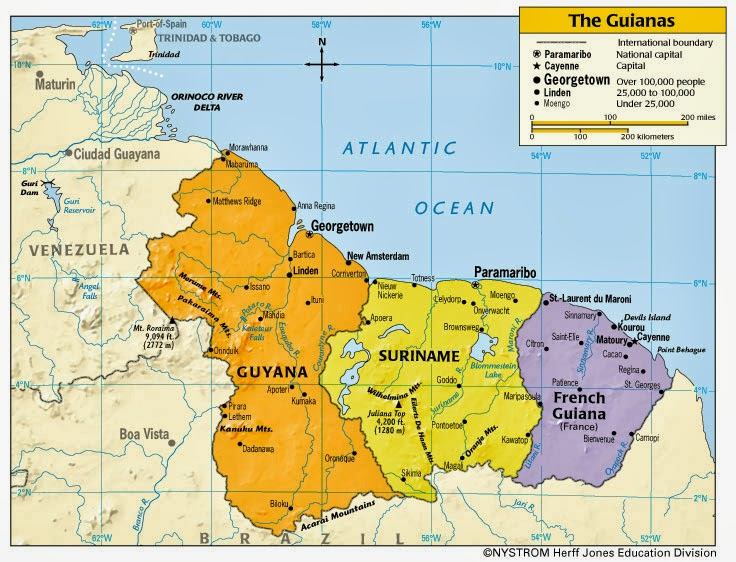 an overview of the french guiana in northeast coast of south america Map of french guiana  guiana, a region of france on the north-east coast of  south america  overview facts leaders media.