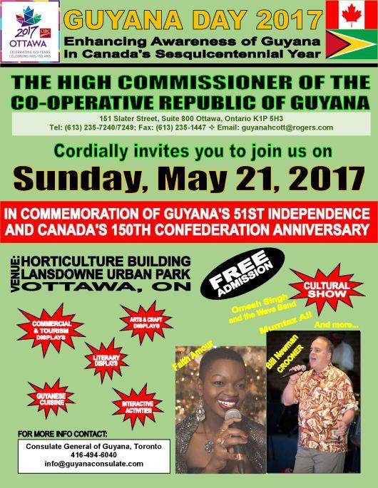 Guyana Ottawa Celebrations May 21, 2017