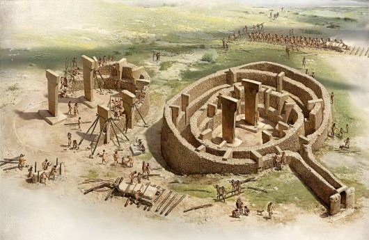Gobekli Tepe - Artist's rendition of construction