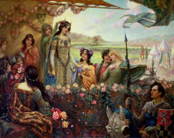 Lancelot_and_Guinevere_-_Herbert_James_Draper - c. 1890